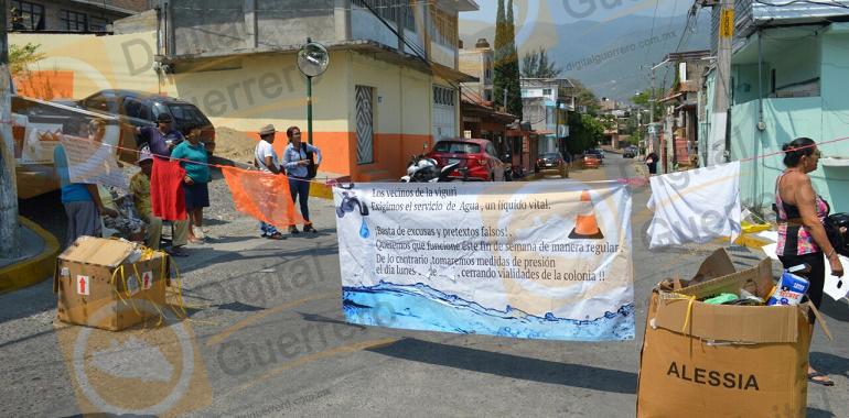incrementan protestas de agua en chilpo