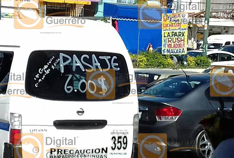 Habrá sanciones por aumento de pasaje en Chilpancingo, afirma gobernador