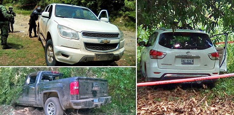 Policía Estatal y Ejército Mexicano aseguran en La Unión tres vehículos con reporte de robo y probablemente relacionados con hechos delictivos