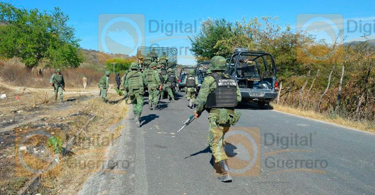 Enfrentamiento en Teloloapan deja ocho civiles y un soldado muertos