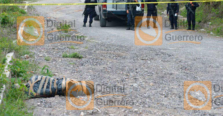 Encuentran cuerpo embolsado en colonia de Chilpancingo