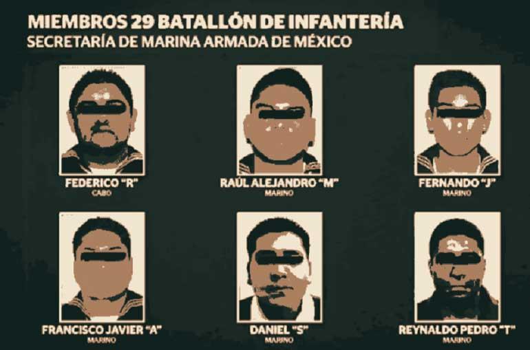 7 marinos, procesados por secuestro cometido en CDMX