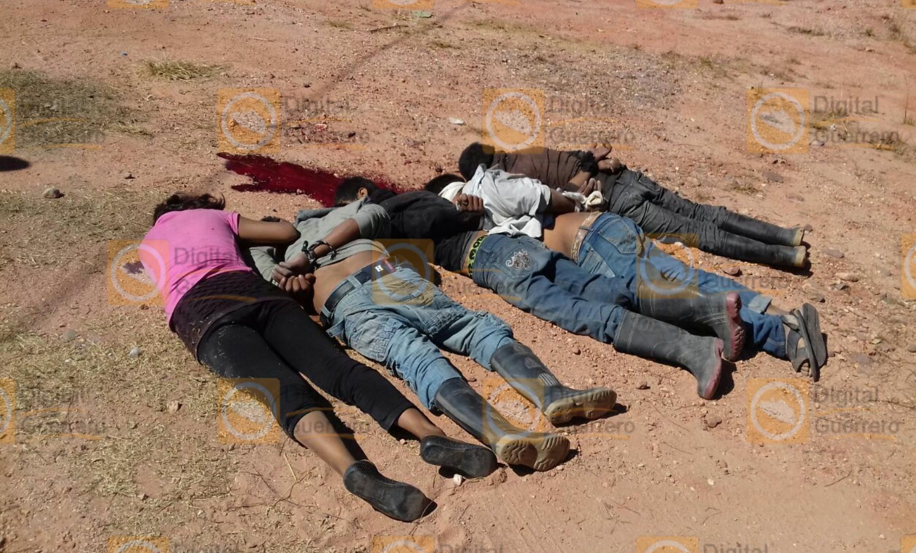 Encuentran cinco cuerpos en Chilapa, Guerrero