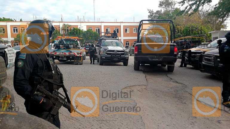 Ejército y PF toman la SSP estatal de Chilpancingo