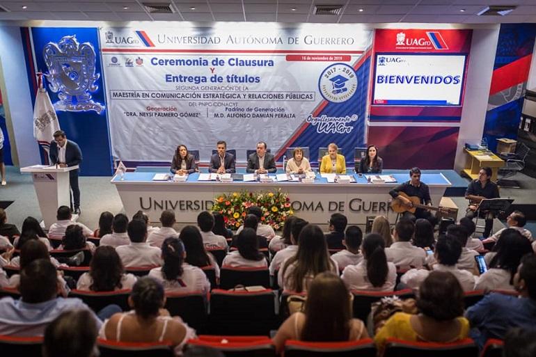 Reconoce Javier Saldaña dedicación de egresados en la maestría en Comunicación Estratégica y Relaciones Públicas de la #UAGro. - Digital Guerrero