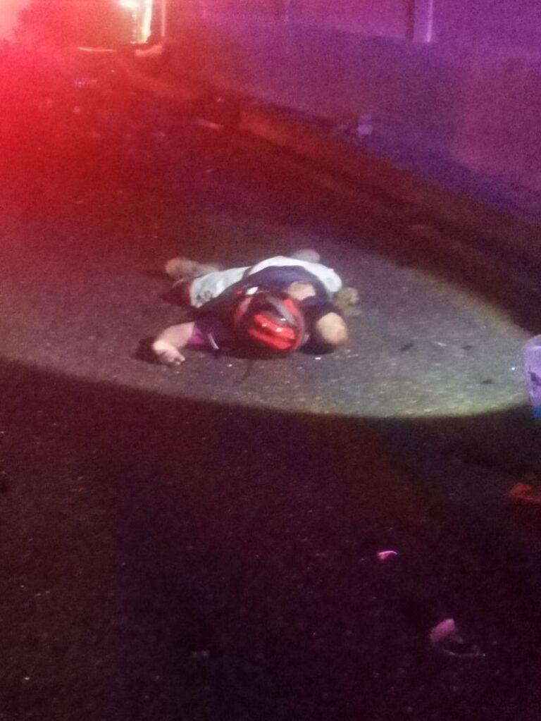 Identifican al motociclista que se mató en la avenida Escénica